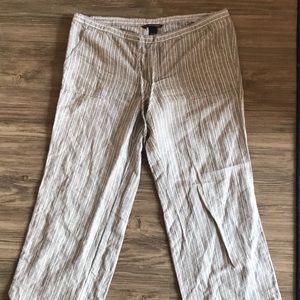 Victoria's Secret Gray Striped Linen Pants
